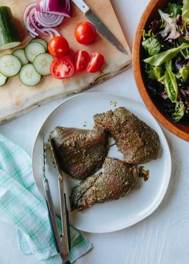Green Chimichurri Flank Steak